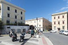 Viejo centro de Civitavecchia, Italia Foto de archivo libre de regalías