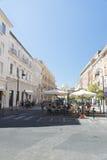 Viejo centro de Civitavecchia, Italia Imágenes de archivo libres de regalías