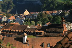 Viejo centro de Fribourg Imagen de archivo libre de regalías
