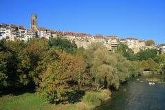Viejo centro de Fribourg Imágenes de archivo libres de regalías