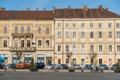 Viejo centro de la ciudad de Cluj Napoca Foto de archivo libre de regalías