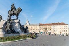 Viejo centro de la ciudad de Cluj Napoca Imagen de archivo libre de regalías