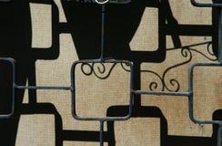 Viejo cercado del hierro y su sombra Imágenes de archivo libres de regalías