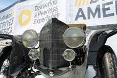 Viejo cierre alemán del frente del coche de carreras para arriba Imagenes de archivo