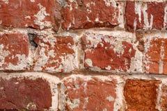 Viejo cierre de la pared de ladrillo para arriba Foto de archivo libre de regalías