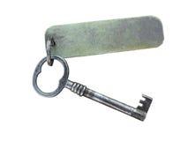 Viejo clave y etiqueta Imagen de archivo