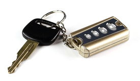 Viejo clave y telecontrol del coche Imagen de archivo libre de regalías