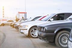 Viejo-coches BMW 3 series Fotografía de archivo