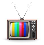 Viejo color TV Imagen de archivo libre de regalías