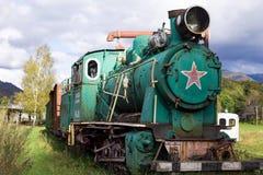 Viejo color verde locomotor Imagenes de archivo