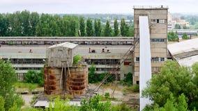 Viejo complejo industrial abandonado Imagen de archivo