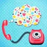 Viejo concepto de la charla del teléfono Fotos de archivo libres de regalías