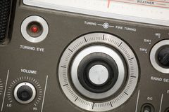 Viejo conjunto de radio Imagen de archivo
