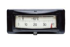 Viejo contador eléctrico de la temperatura Imagen de archivo libre de regalías