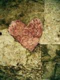 Viejo corazón de papel Fotografía de archivo libre de regalías