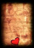 Viejo corazón de papel de la tarjeta del día de San Valentín Fotos de archivo