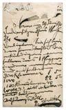 Viejo correo de los posts con el texto manuscrito Textura (de papel) arrugada Fotografía de archivo libre de regalías