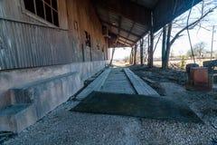 Viejo Crawford Mill en Walburg Tejas, escenario de película Fotografía de archivo