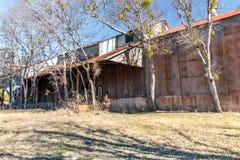Viejo Crawford Mill en Walburg Tejas, escenario de película Imagen de archivo libre de regalías