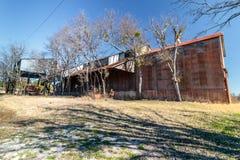 Viejo Crawford Mill en Walburg Tejas, escenario de película Foto de archivo libre de regalías