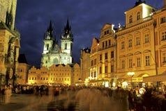 Viejo cuadrado de ciudad Praga fotografía de archivo libre de regalías