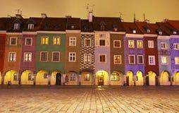 Viejo cuadrado de mercado en Poznán, Polonia Imagen de archivo libre de regalías