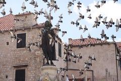 Viejo cuadrado en Dubrovnik Imagen de archivo libre de regalías