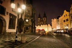 Viejo cuadrado en Praga Imagen de archivo libre de regalías