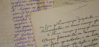 Viejo cursivo Imagenes de archivo