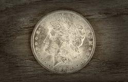 Viejo dólar de plata Fotografía de archivo