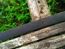 Viejo de bambú de madera Foto de archivo