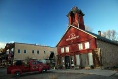 Viejo departamento del fuego de Towne Silverton Fotografía de archivo