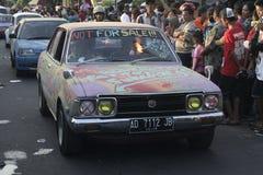 viejo desfile del coche del salón en Sukoharjo Foto de archivo libre de regalías