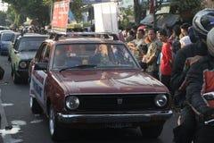 viejo desfile del coche del salón en Sukoharjo Imagen de archivo libre de regalías