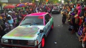 viejo desfile del coche del salón en Sukoharjo Fotografía de archivo