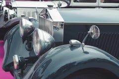 Viejo detalle clásico del coche Foto de archivo libre de regalías