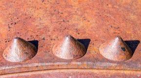 Viejo detalle de la maquinaria con los remaches 4 Fotos de archivo