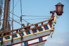 Viejo detalle de la nave de la vela del buque Fotografía de archivo libre de regalías