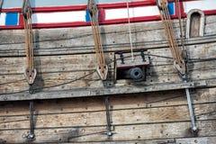 Viejo detalle de la nave de la vela del buque Imagen de archivo libre de regalías