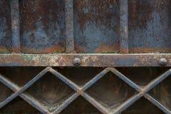 Viejo detalle de la puerta del metal Fotografía de archivo libre de regalías