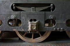 Viejo detalle de la rueda del tren Imágenes de archivo libres de regalías