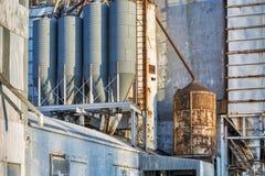 Viejo detalle del elevador de grano Imagen de archivo libre de regalías