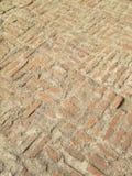 Viejo detalle medieval del modelo del pavimento del ladrillo Fotos de archivo libres de regalías