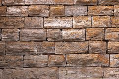 Viejo detalle Nessebar de la pared de piedra Imagenes de archivo