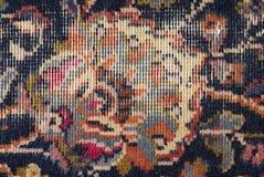 Viejo detalle raído de la alfombra Fotografía de archivo