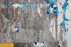 Cierre urbano de la pared del cartel para arriba Fotos de archivo libres de regalías