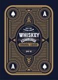 Viejo diseño de la etiqueta para el whisky Foto de archivo