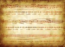 Viejo diseño de la nota de la música Foto de archivo libre de regalías
