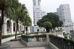Viejo diseño del jardín de la arquitectura Imágenes de archivo libres de regalías