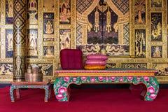 Viejo diseño interior tailandés Imagen de archivo libre de regalías
